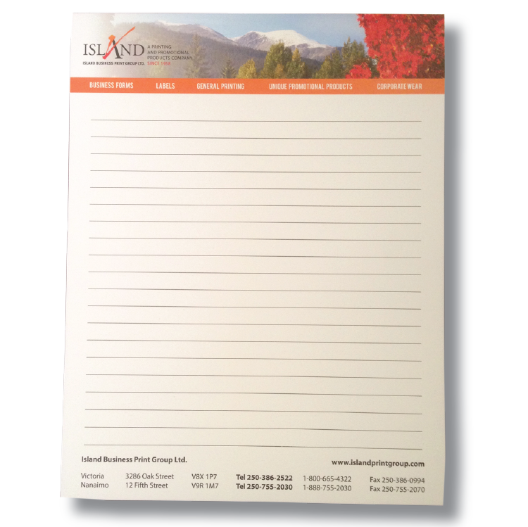 Island Print Group Notepad What's Hot Wednesday