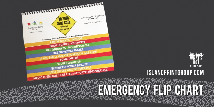 Whats Hot Emergency Flip Chart Island Business Print Group