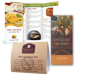 Menus Rack Cards Tent Cards Door Hangers