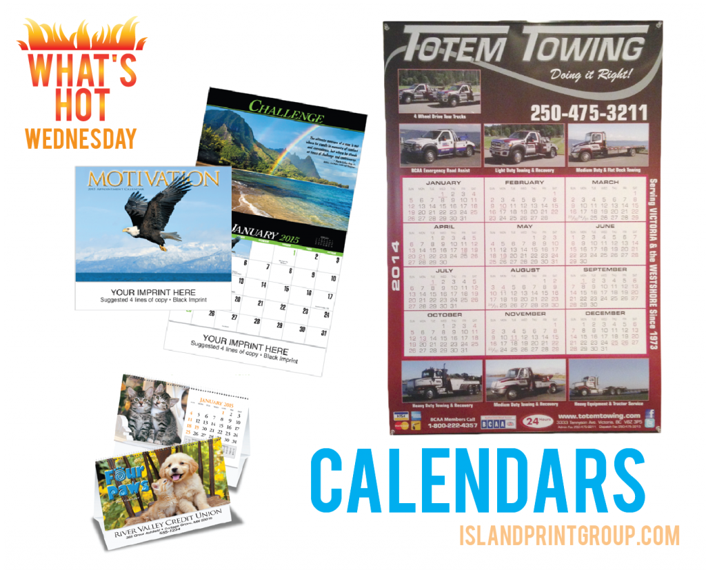 What's Hot Wednesday - Calendars -Island Business Print Group