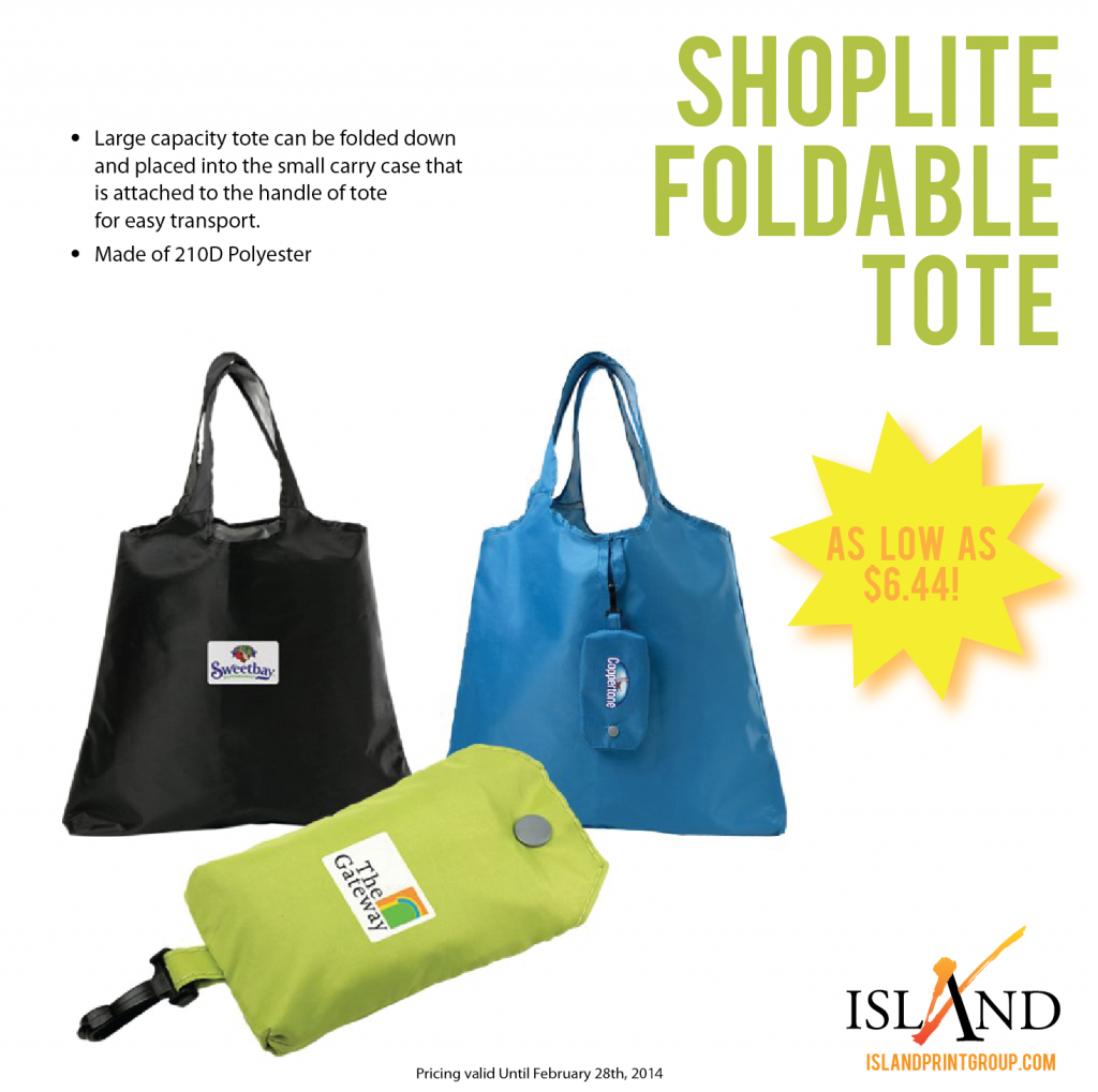 WHW - Shoplite Foldable Tote - Island Business Print Group