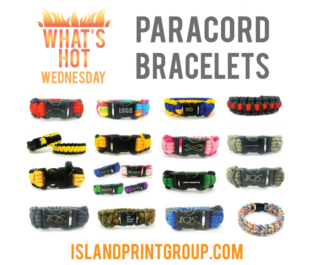 What's Hot Wednesday - Paracord-Bracelets - Island Business Print Group