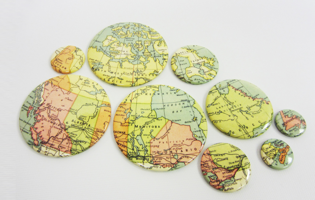 Map of Canada Buttons
