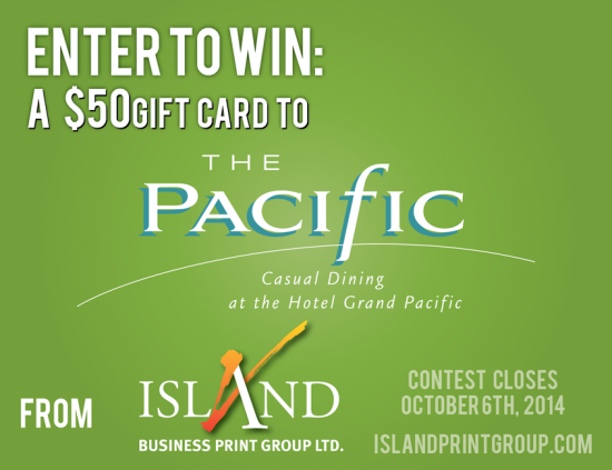 Facebook Contest - The Pacific Restaurant