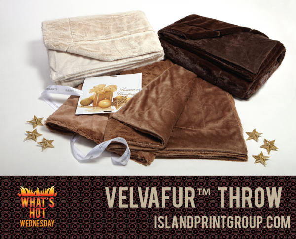 What's Hot Wednesday - Velvafur Throw - Island Business Print Group