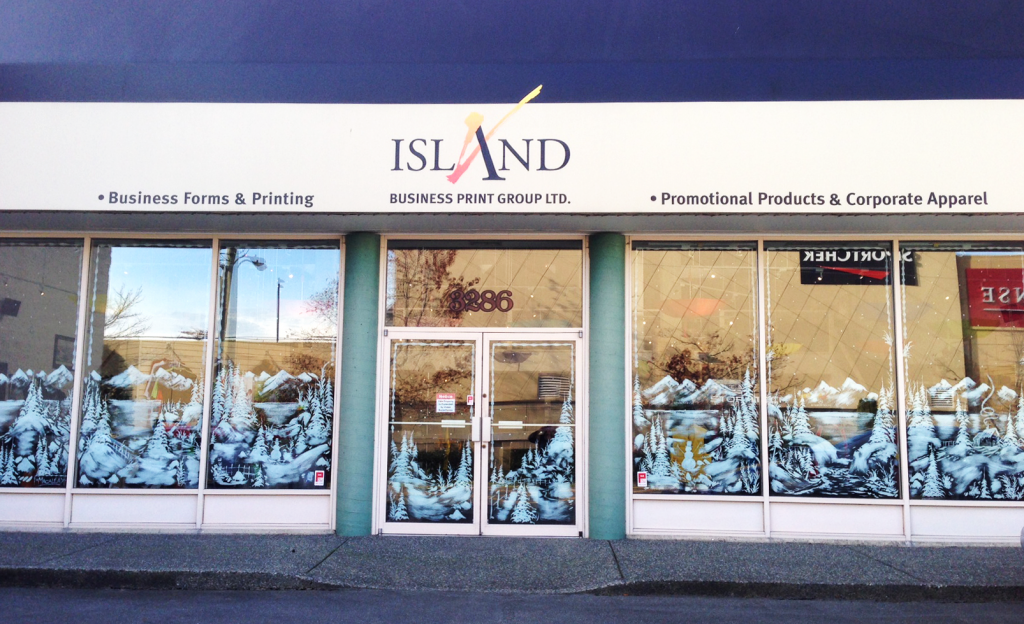 Island Business Print Group - Holiday Winter Christmas Window Decoration