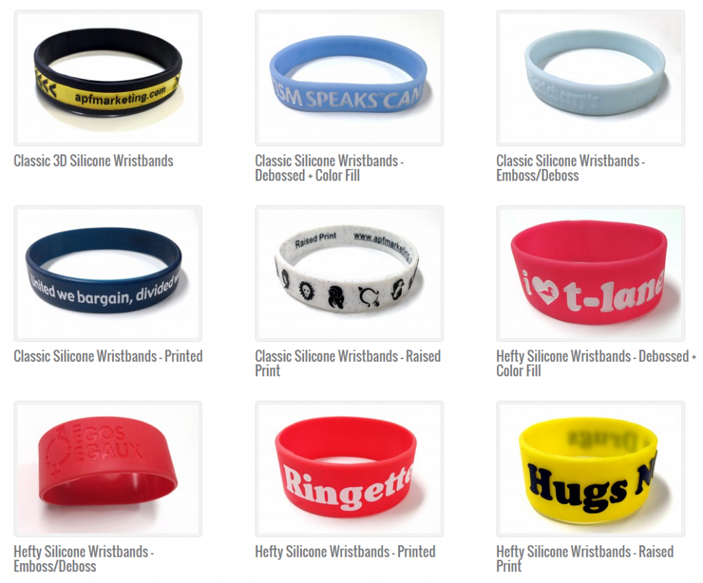 Silicone Wristwear Selection - Island Business Print Group